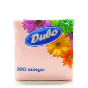 дыво салфетки 100 шт розовые